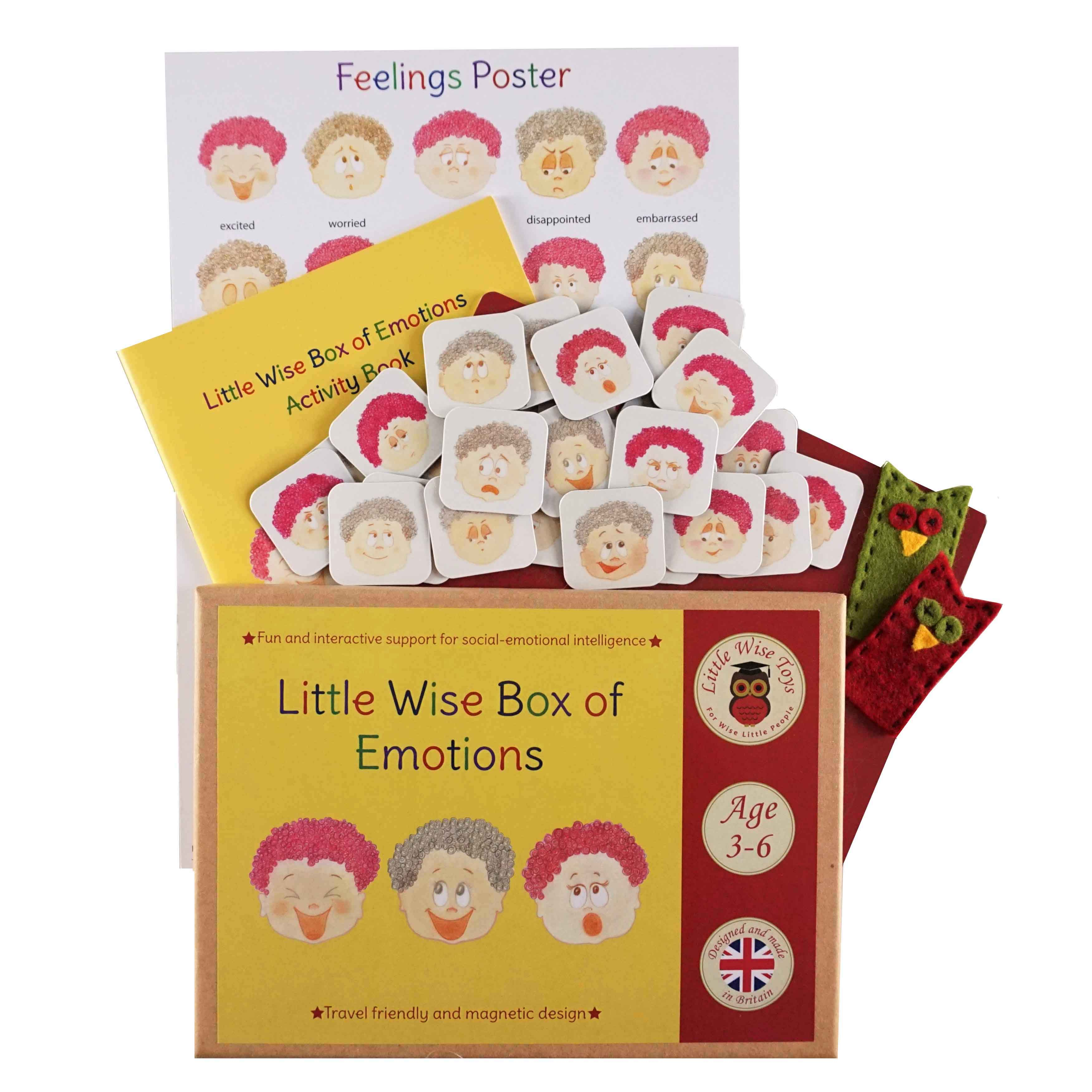 Helping children to understand and manage big emotions and feelings. Emotions - early years educational and learning toy. Helping 3-6 year olds to understand and manage their emotions and feelings.