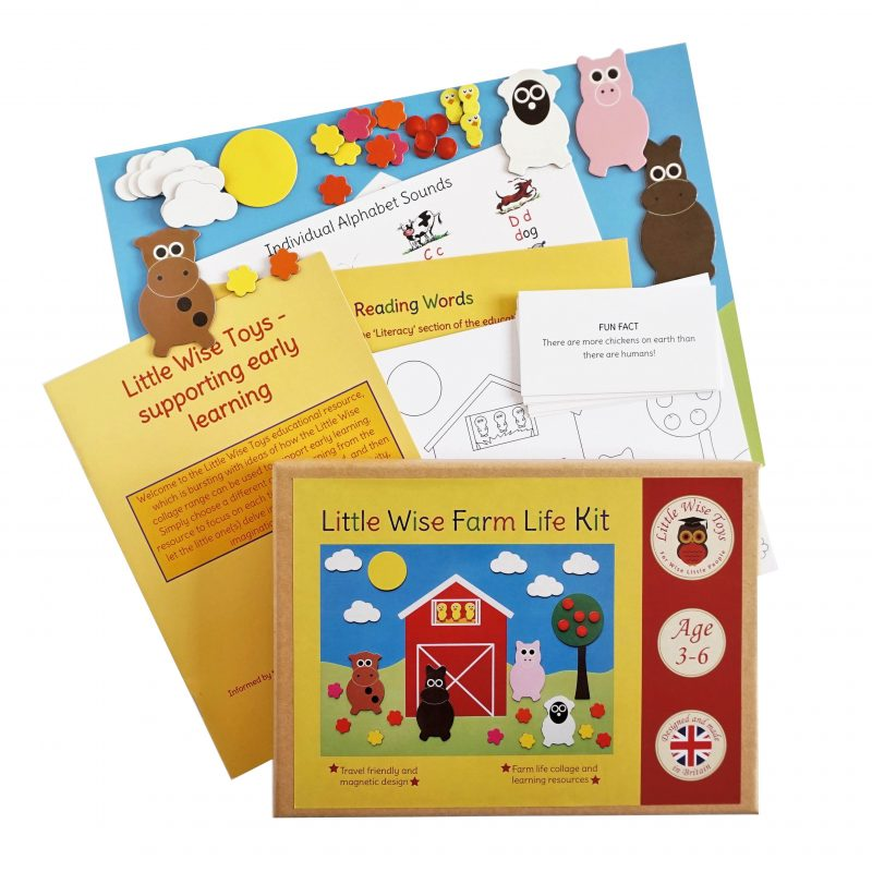 Farm life educational and learning toy for 3-6 year olds
