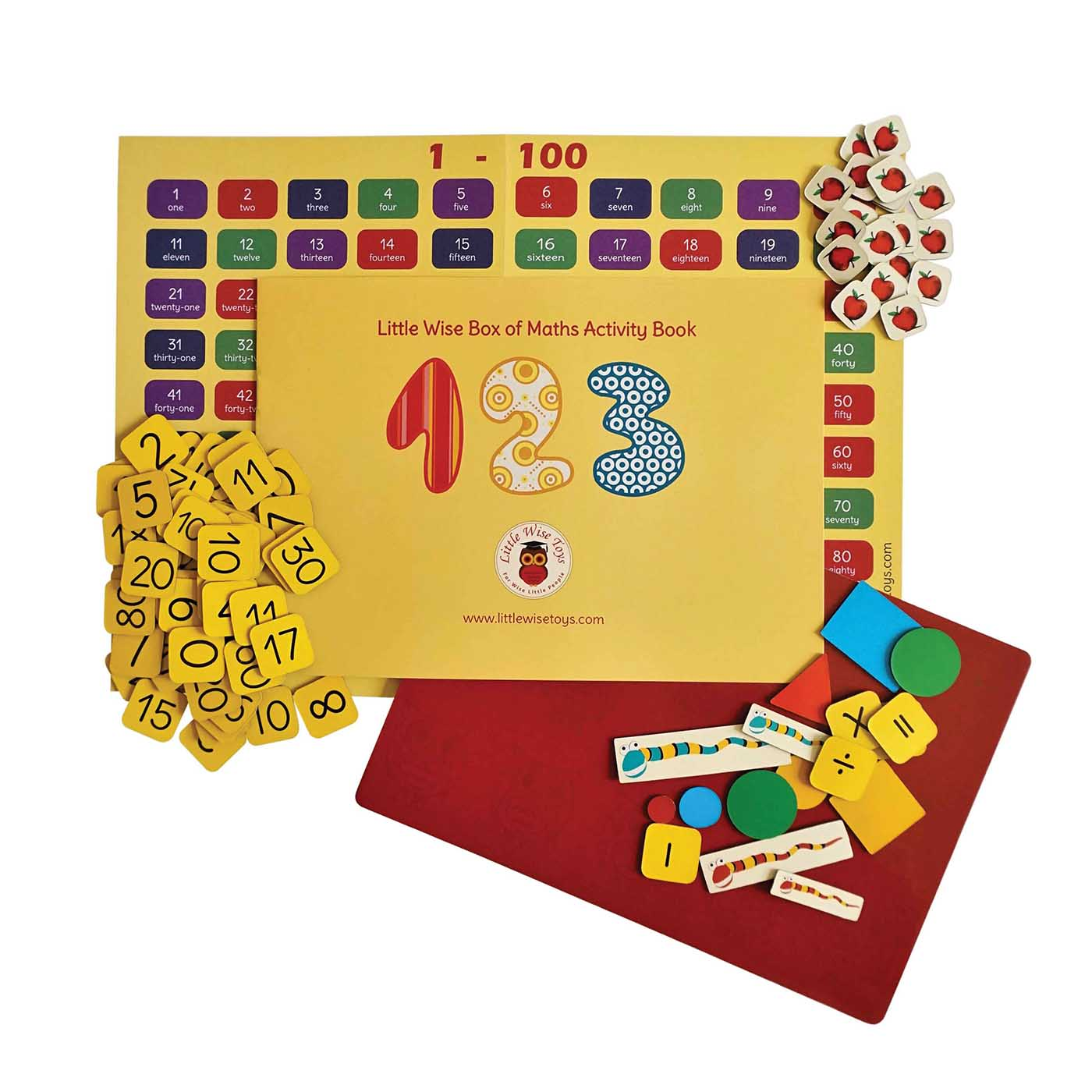 Maths game for children aged 3-6. Maths and numbers educational toy and learning toy.